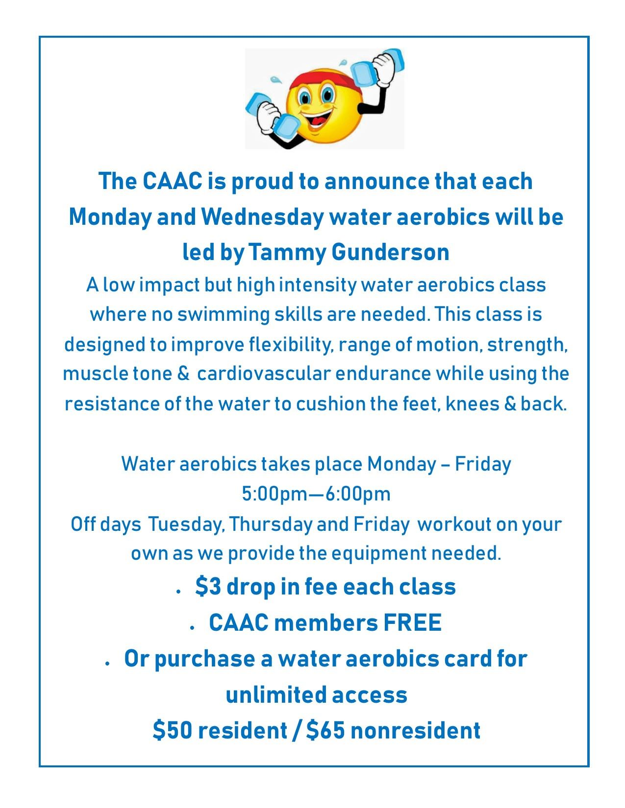 Water Aerobics at the CAAC