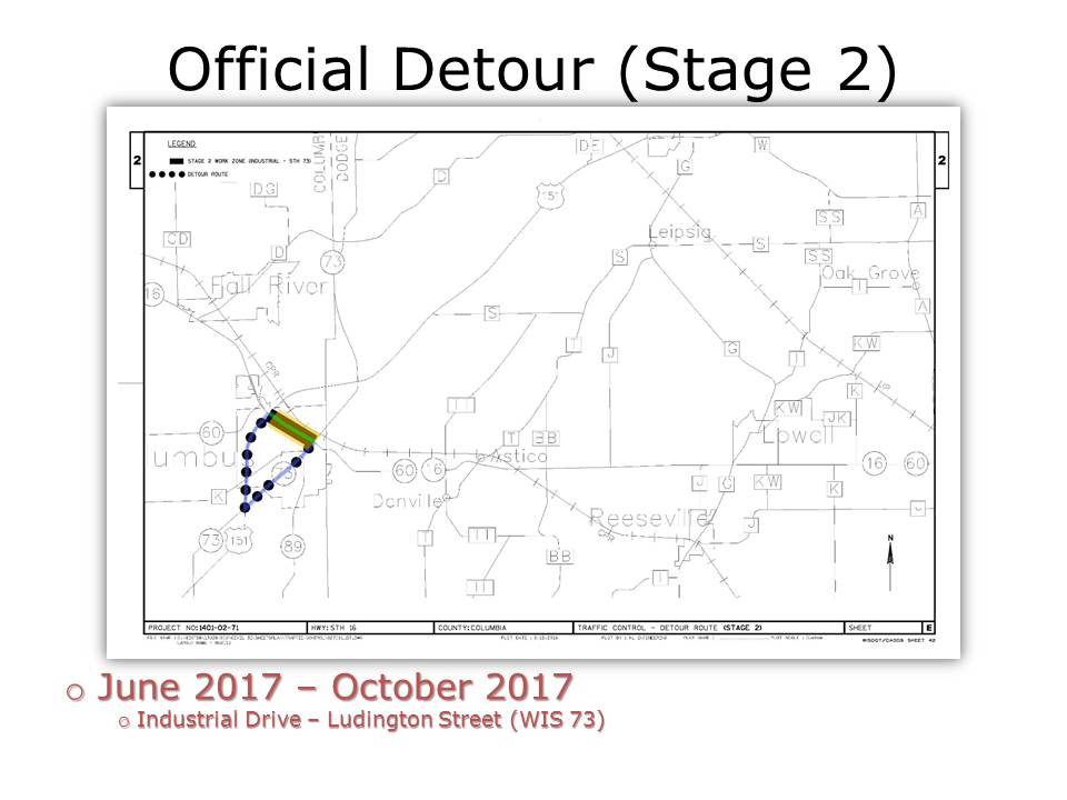 James Street Construction-Stage Two Detour Route